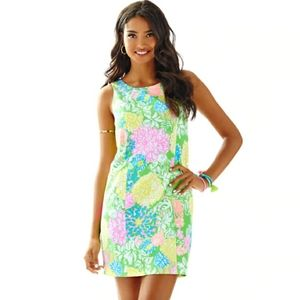 Lilly Pulitzer Cathy Hibiscus Stroll Shift Dress